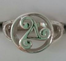 Ring Celtic Triskelion Sz 6