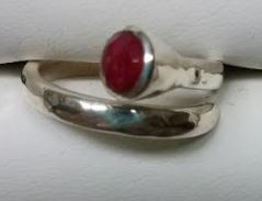 Ring Ruby Wrap Adjustable