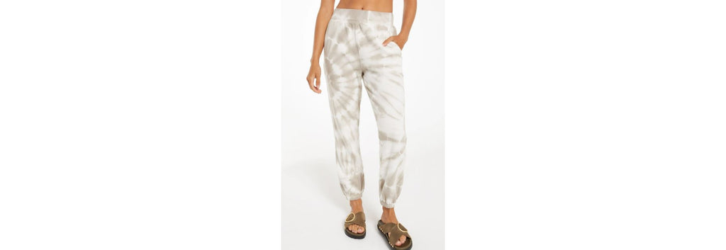 Pant Jogger Emery Spiral Tie Dye Taupe by Z-Supply