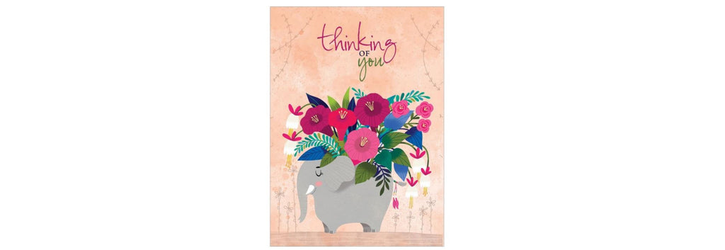 Floral Bouquet Elephant All Occasion Greeting Card