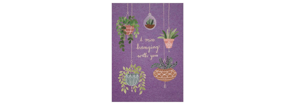 Hanging Plants Thinking of You Greeting Card