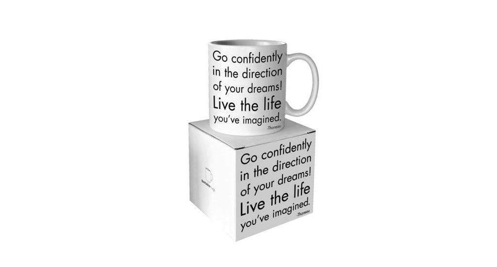 "Quotable Card, Mug - ""Go Confidently"""