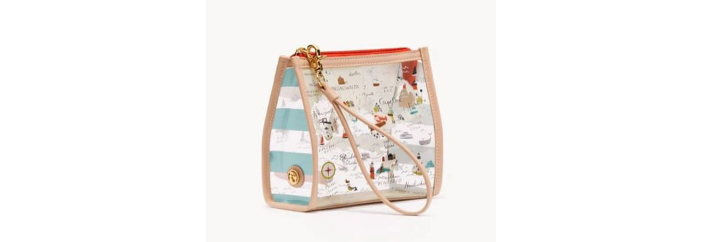 Bag Wristlet Clear Northeastern Harbors by Spartina