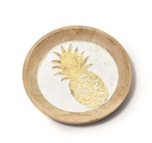 Pineapple Bottle Coaster Mango Wood - Hand Carved