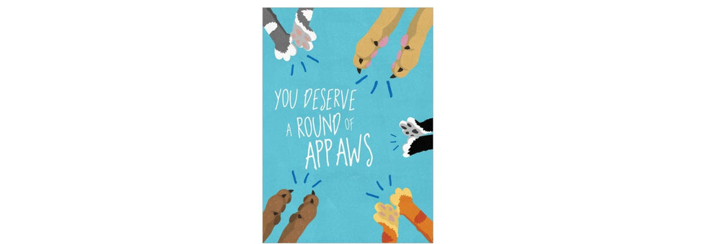 Round of Appaws Congrats Greeting Card
