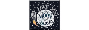 To The Moon All Occasions Canvas Greeting Card