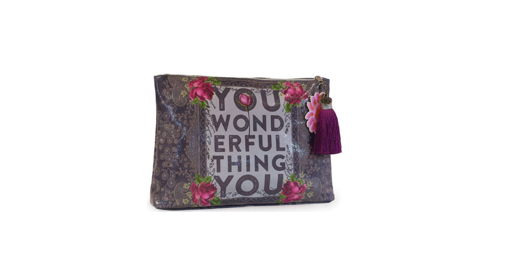 Wonderful Thing Large Tassel Pouch by Papaya