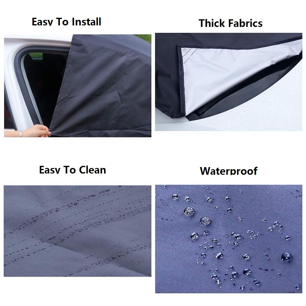 Waterproof Car Windshield Snow Cover & Sun Shade for Sedan & SUVs Prepare for All Weather