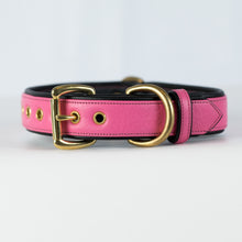 Load image into Gallery viewer, Mayfair Dog Collar pink and black
