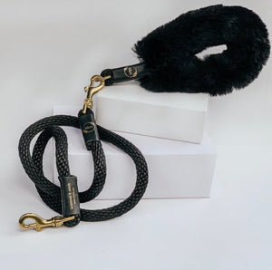 Genuine Shearling, Leather, & Nylon Rope Grip For Dogs: The Gstaad