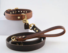 Load image into Gallery viewer, Genuine Leather Dog Collars: The Barneys Collar