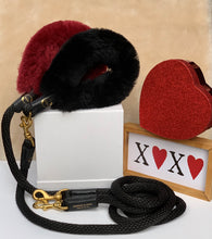 Load image into Gallery viewer, Genuine Shearling, Leather, & Nylon Rope Grip For Dogs: The Gstaad
