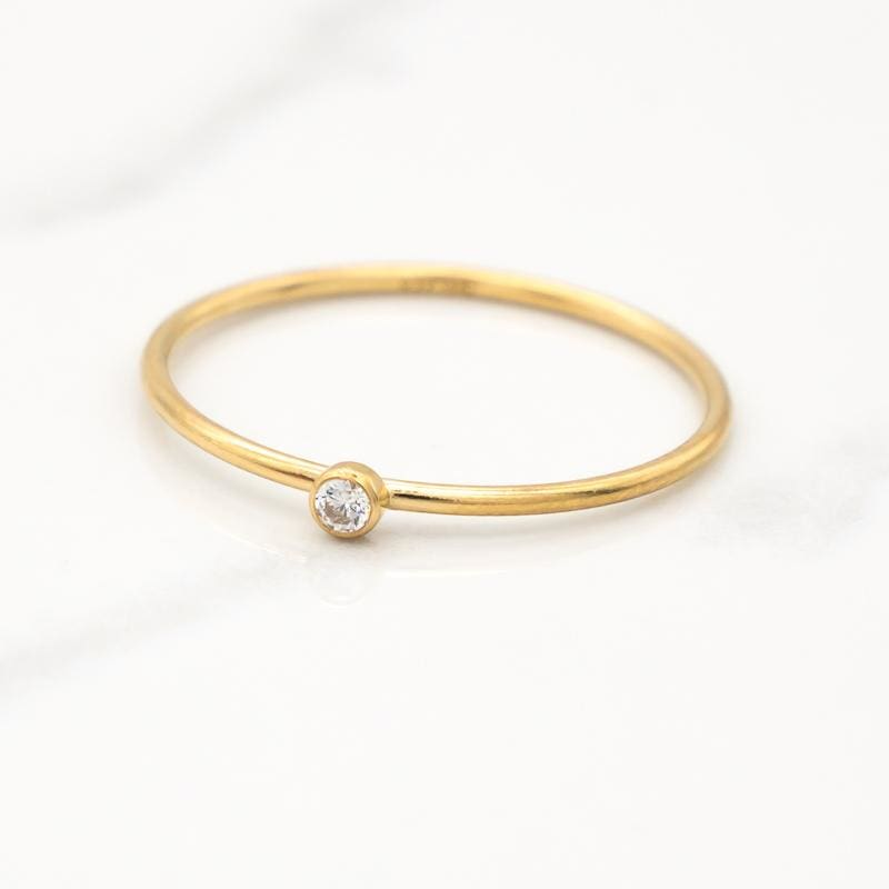 April Birthstone Stackable Ring