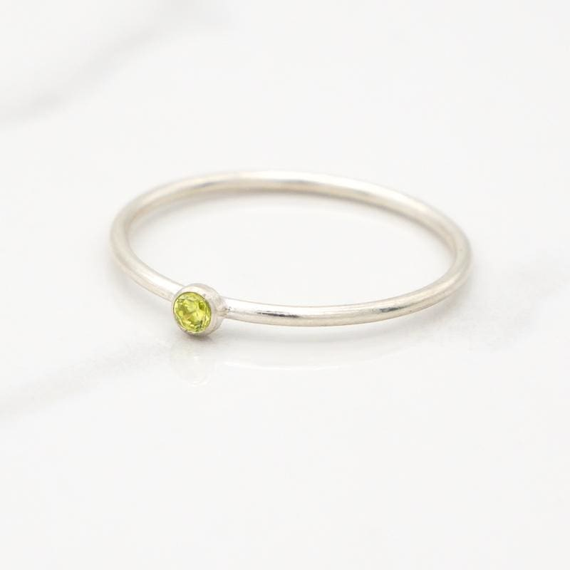 August Birthstone Stackable Ring - Mommy Rings