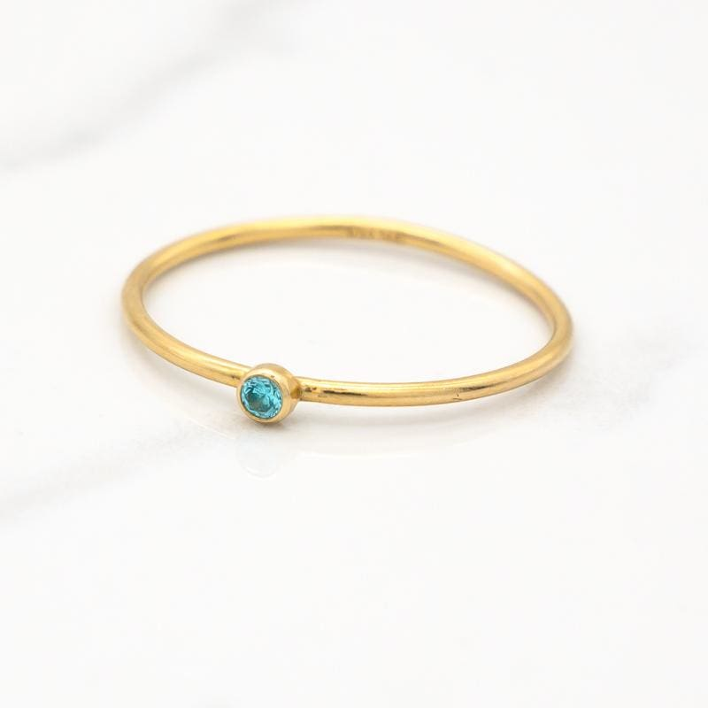 December Birthstone Stackable Ring - Mommy Rings
