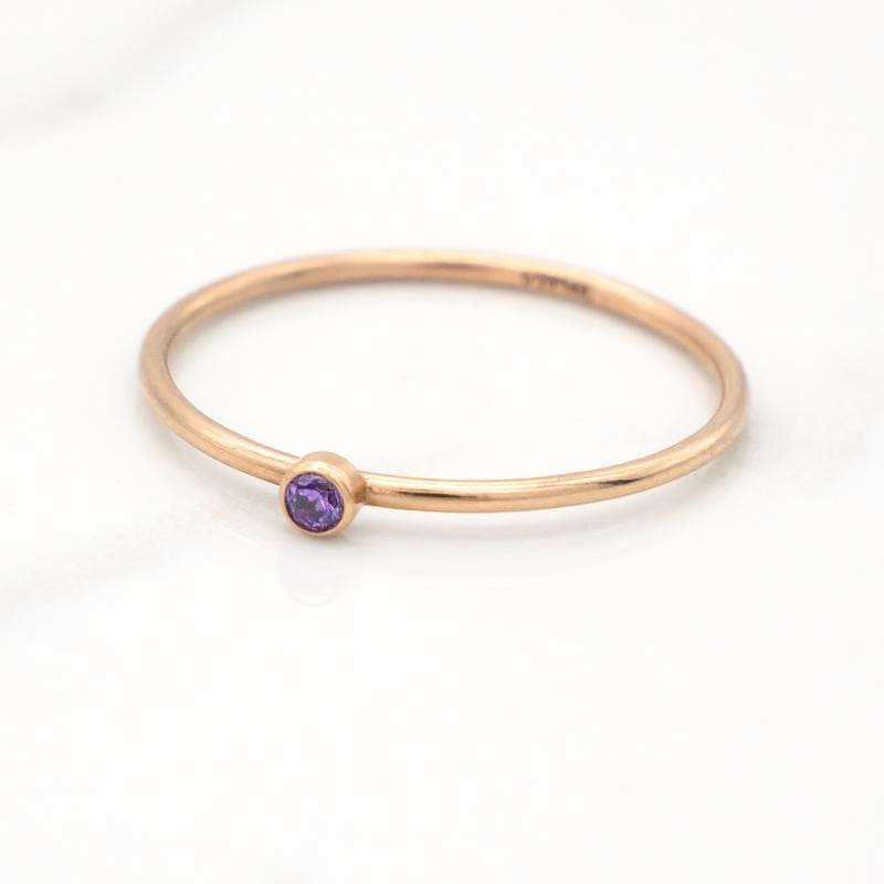 February Birthstone Stackable Ring