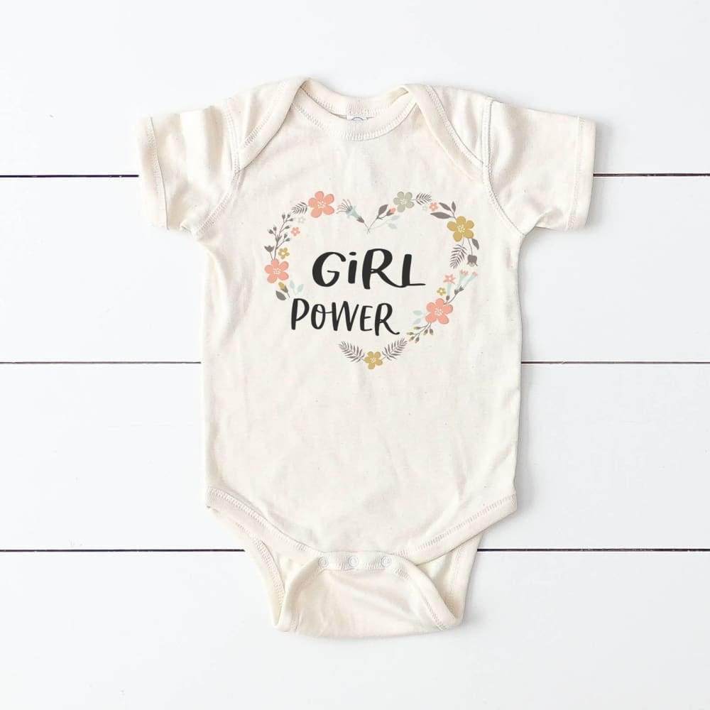 """Girl Power"" Baby Bodysuit"