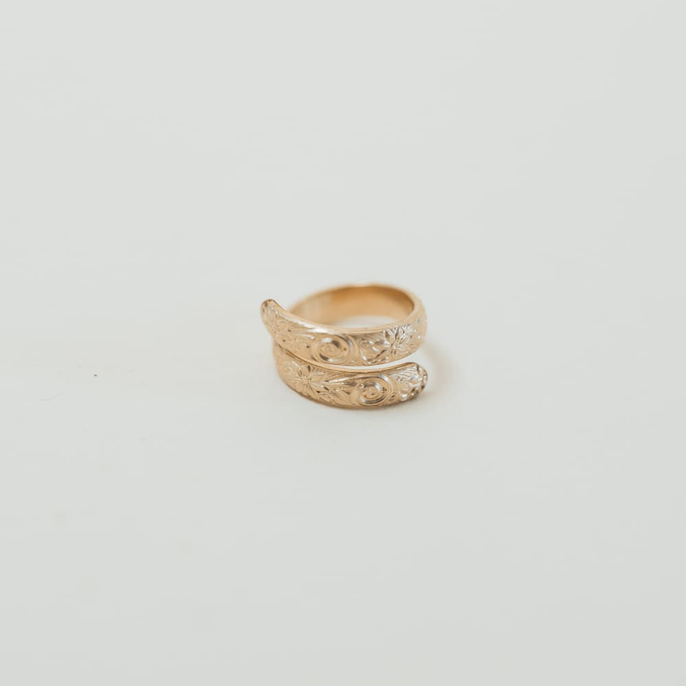 Gold Floral Journey Ring