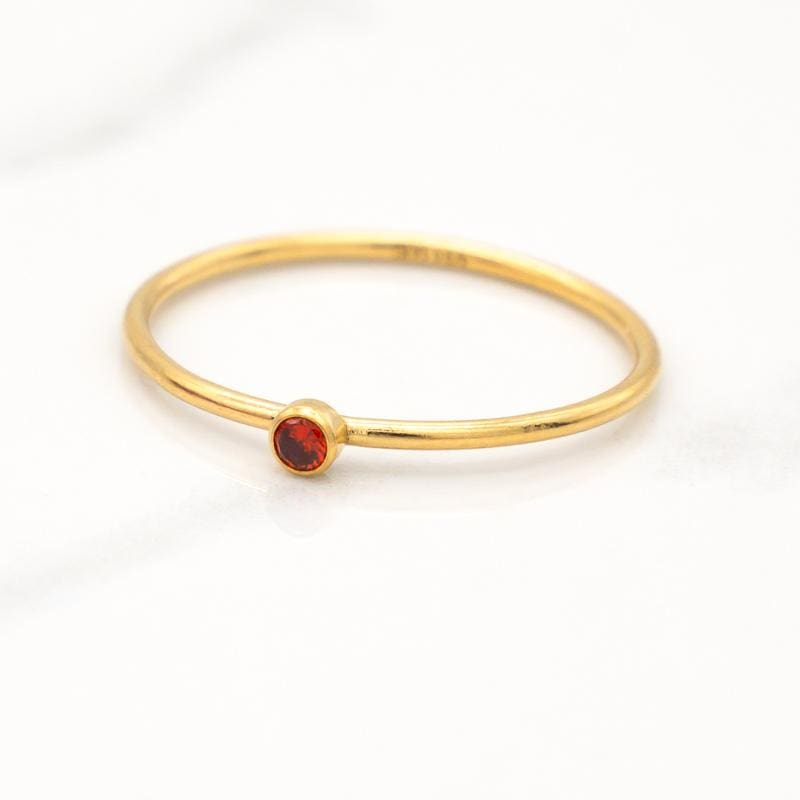 January Birthstone Stackable Ring