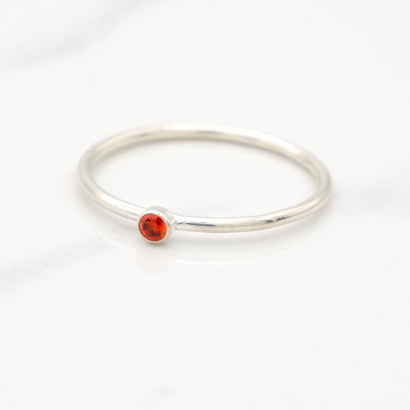 July Birthstone Stackable Ring