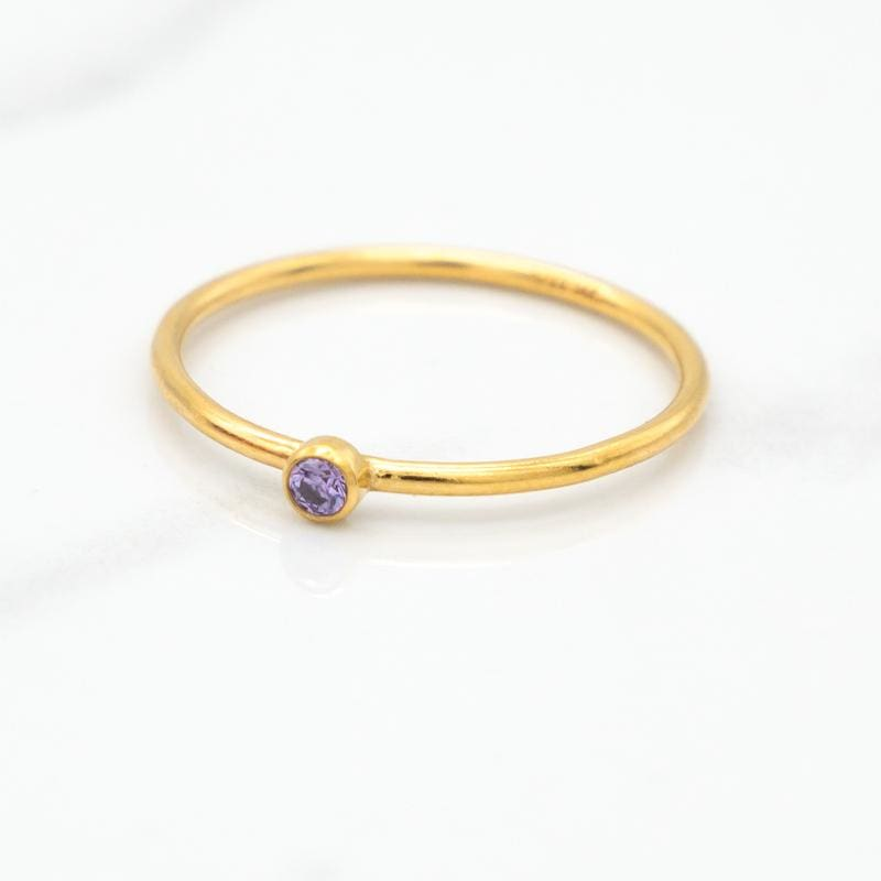 June Birthstone Stackable Ring
