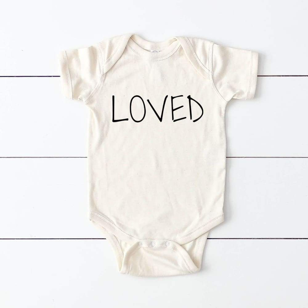 """Loved"" Baby Bodysuit"