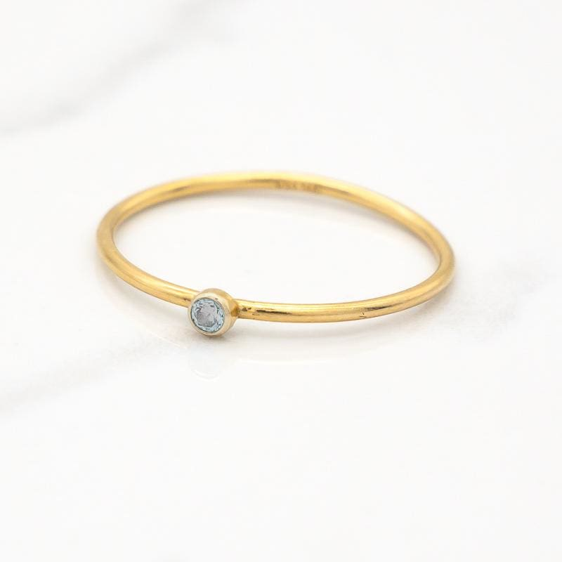 March Birthstone Stackable Ring - Mommy Rings
