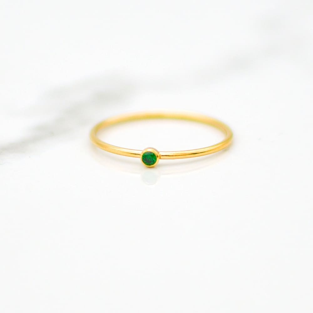 May Birthstone Stackable Ring