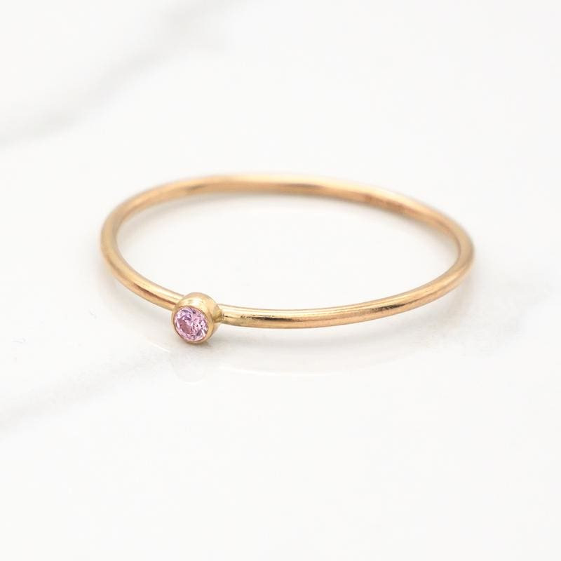 October Birthstone Stackable Ring - Mommy Rings