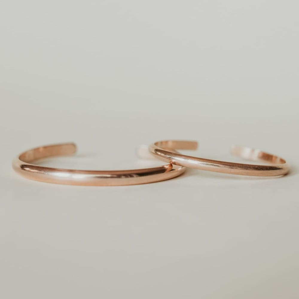 Personalized Rose Gold Mama & Me Set - Baby Bangles