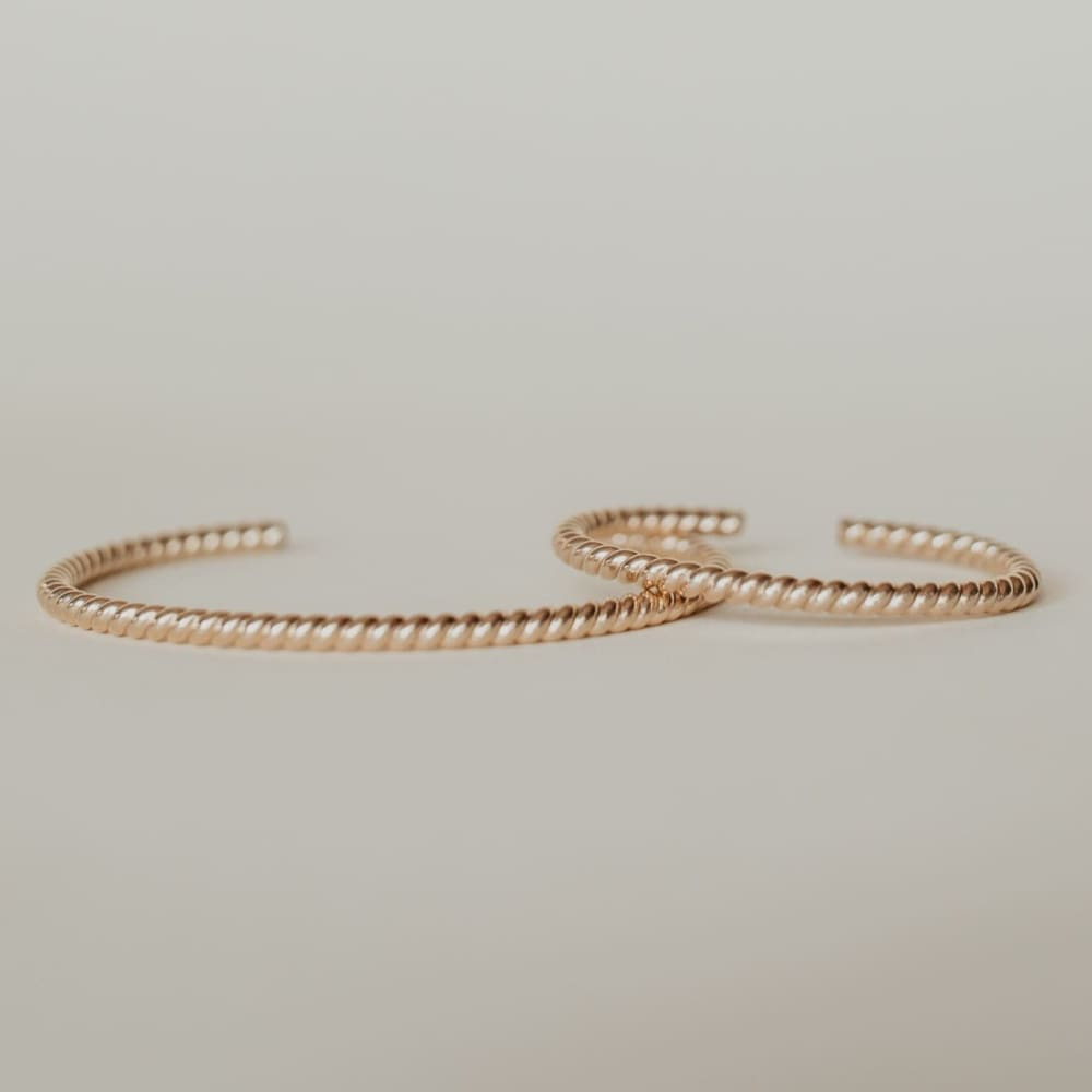 Woven Twisted Gold Mama + Me Set - Baby Bangles