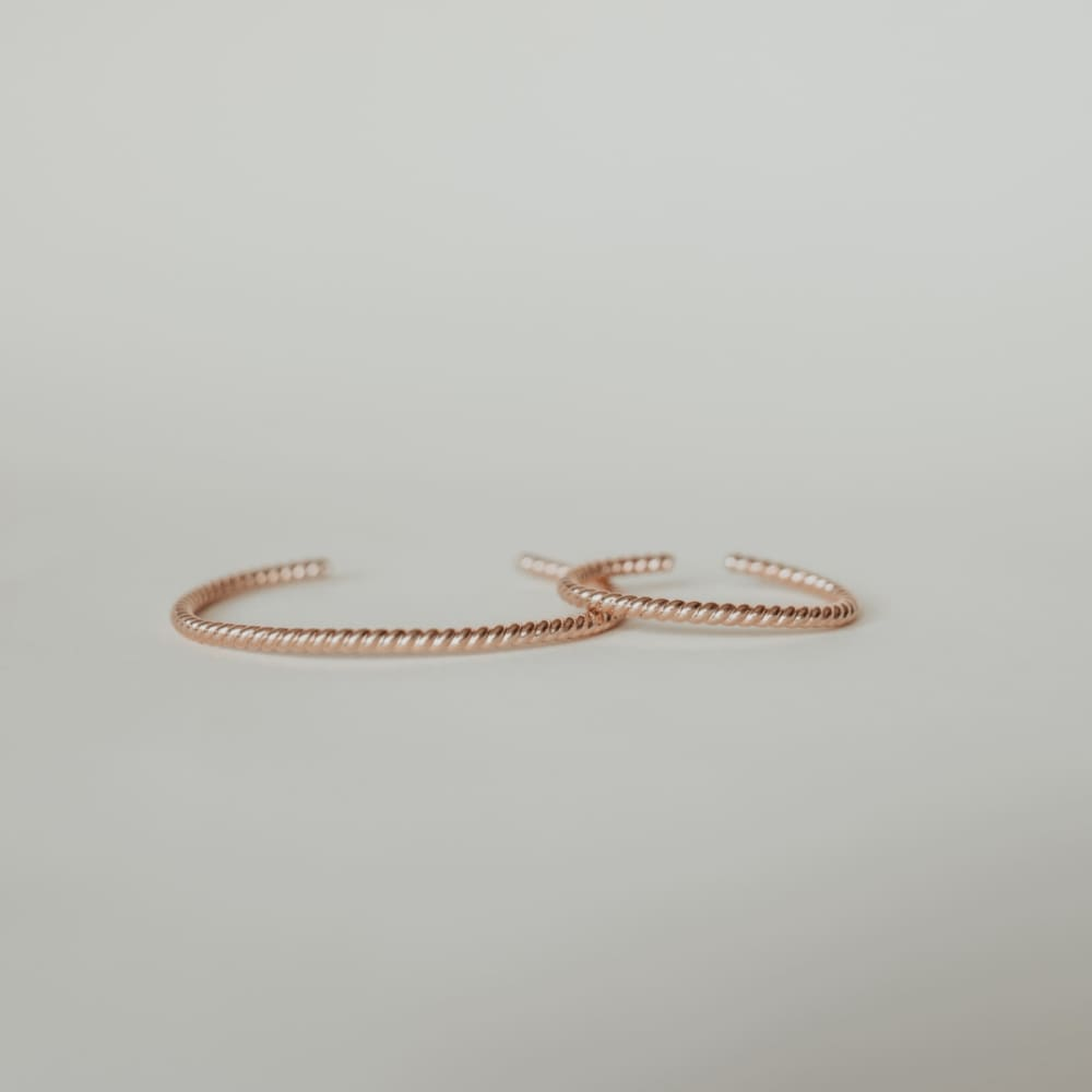 Woven Twisted Rose Gold Mama + Me Set