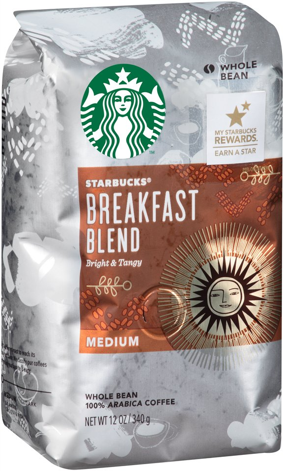Starbucks Medium Roast Whole Bean Coffee — Breakfast Blend