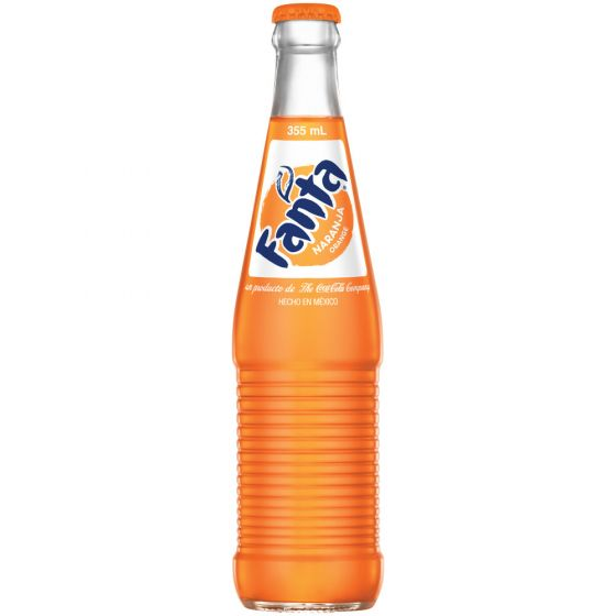 Fanta Glass Bottle Soda, Orange, 12 Fl Oz,