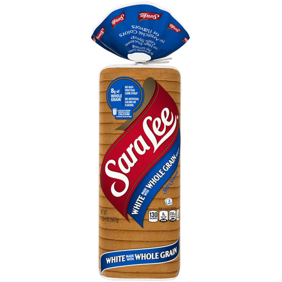 SARA LEE WHOLE GRAIN WHITE BREAD