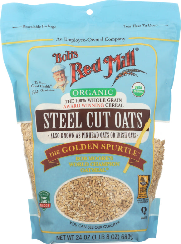 Bob's Red Mill Organic Steel Cut Oats 24 Oz