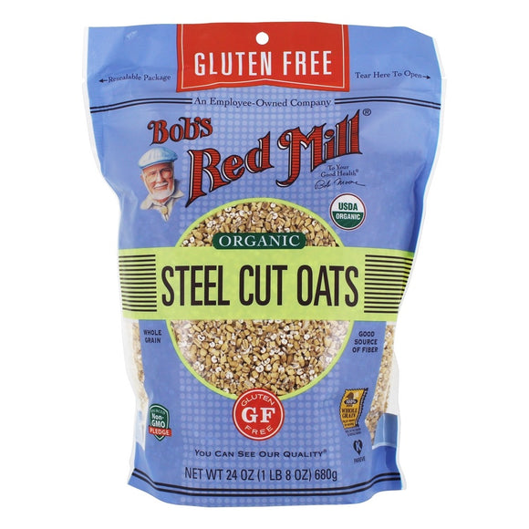 Bob's Red Mill Organic Steel Cut Oats Gluten Free 24 OzRG