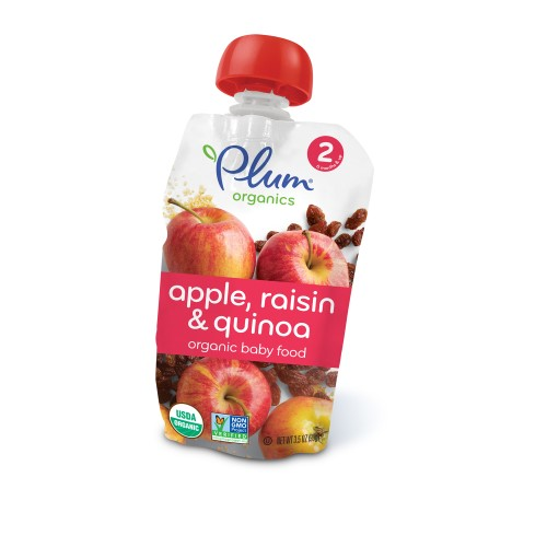 Plum Organics Stage 2 Organic Baby Food, Apple, Raisin & Quinoa,