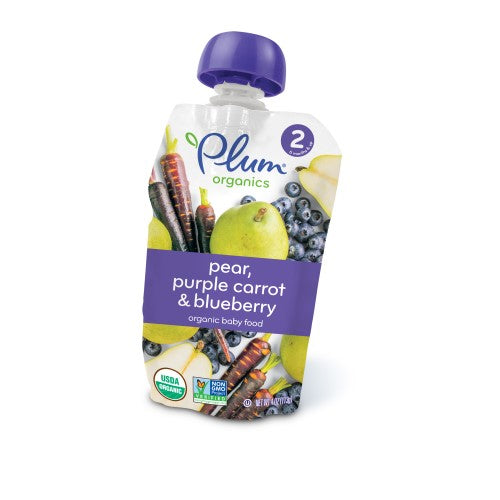 Plum Organics Stage 2 Organic Baby Food, Pear, Purple Carrot & Blueberry
