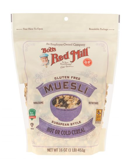 Bob's Red Mill Gluten Free Muesli 16 oz European style