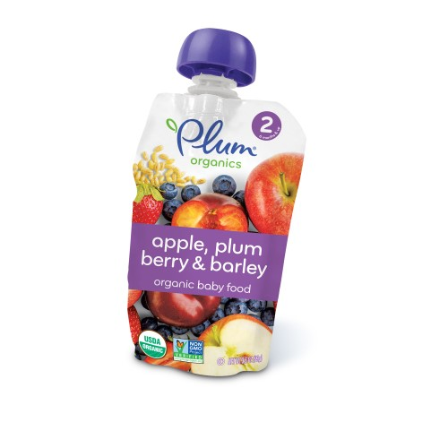 Plum Organics Stage 2 Organic Baby Food, Apple, Plum, Berry & Barley