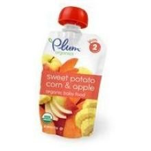 Plum Organics Stage 2 Organic Baby Food, Sweet Potato, Apple & Corn