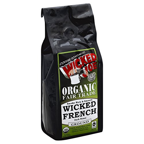 Wicked Joe Organic Dark Roast Ground Coffee, Wicked French