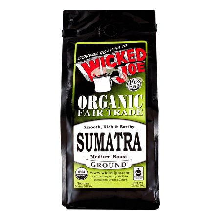 Wicked Joe Organic Medium Roast Ground Coffee, Sumatra, 12 Oz