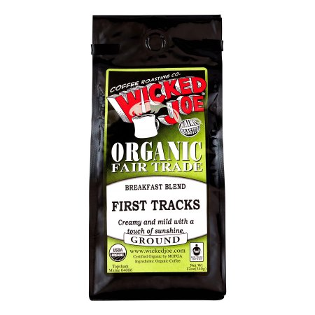 Wicked Joe Organic Light Roast Ground Coffee, Breakfast Blend