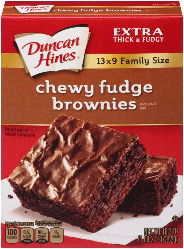 Duncan Hines Brownie Mix, Chewy Fudge