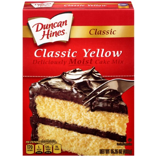Duncan Hines Classic Yellow Deliciously Moist Cake Mix