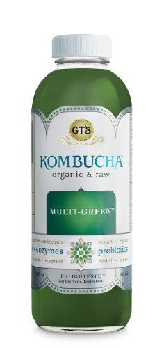 GT'S ENLIGHTENED ORGANIC & RAW MULTI-GREEN KOMBUCHA, 16.2 FL. OZ.