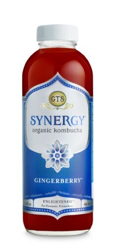 GTS ENLIGHTENED SYNERGY ORGANIC AND RAW KOMBUCHA GINGERBERRY, 16 OUNCE