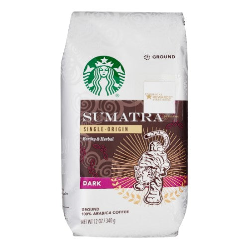 Starbucks Dark Roast Ground Coffee — Sumatra — 100% Arabica — 1 Bag (12 Oz.)